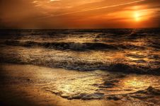 Free Coastal Sunset Royalty Free Stock Photos - 95798598