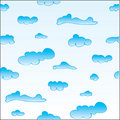Free Seamless Clouds Pattern Royalty Free Stock Images - 9580769