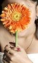 Free Holding Flower Royalty Free Stock Image - 9582846