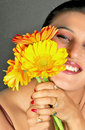 Free Girl With Flowers Stock Photography - 9583142