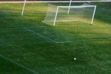 Empty Goal Post Stock Image