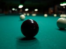 Free Black Billiards Ball Stock Photos - 9580473