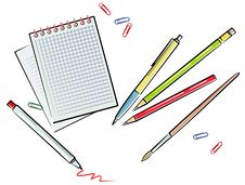 Office Supplies (Vector) Royalty Free Stock Photography