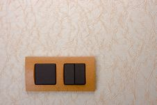 Free Electrical Wall Switch Stock Photography - 9580702