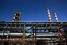 Iron And Steel Plant4 Royalty Free Stock Photography