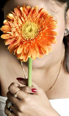 Free Holding Flower Royalty Free Stock Image - 9582846
