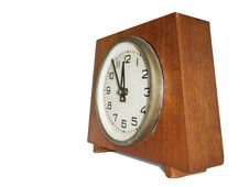 Free Retro Antique Clock Isolated Over White Stock Photography - 9583552