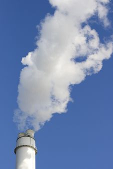 Smoking Chimney Stock Photo