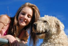 Free Teen With Dog Stock Images - 9583714