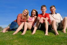 Free Family On Grass Stock Image - 9583741