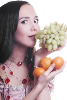 Free Girl With Fruit Stock Photos - 9583763