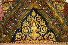 Free Buddhist Decorative Bas-relief Royalty Free Stock Images - 9583969