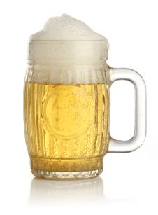 Free Glass Of Cold And Fresh Golden Beer Royalty Free Stock Photos - 9584638