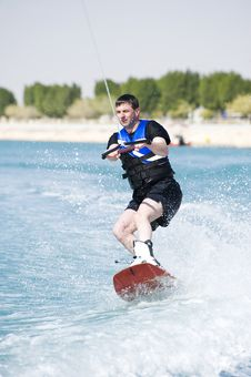 Free Wakeboarder In Action Stock Photography - 9585392