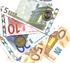 Free Euro Coins And Notes Stock Image - 9586241