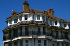 Free Old Style Seaside Flats Royalty Free Stock Images - 9587109