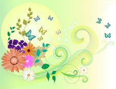 Free Floral Background Royalty Free Stock Photos - 9588558