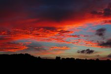 Free Sky, Afterglow, Red Sky At Morning, Sunset Stock Photography - 95829392
