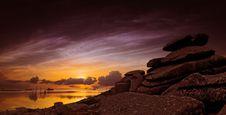Free Landscape Of Rocks On Sunset Stock Image - 95868321