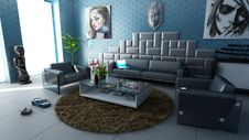 Free Modern Apartment Living Room Royalty Free Stock Image - 95868386