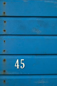 Free 45 On Blue Boards Stock Images - 95868484