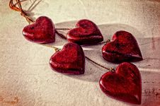 Free Valentines Day Hearts Royalty Free Stock Image - 95868556