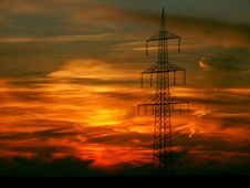 Free Sky, Afterglow, Red Sky At Morning, Electricity Stock Photos - 95888463