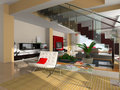 Free Modern Interior Of The Room Royalty Free Stock Image - 9590416