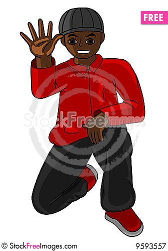 Free Hip Hop Guy Royalty Free Stock Photography - 9593557