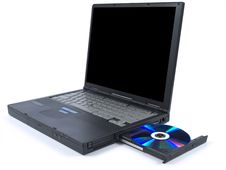Free Black Laptop And DVD Stock Images - 9590394