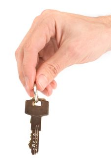 Free Hand Holding Keys Stock Photos - 9591043