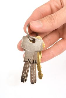 Free Hand Holding Keys Stock Photos - 9591063