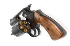 Free Old Revolver With Bullets Royalty Free Stock Photos - 9591218