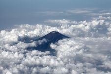 Free View To The Volcano From The Airplane Royalty Free Stock Photo - 9592135