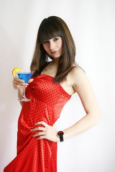 Free Sexy Woman With Cocktail Royalty Free Stock Photo - 9592415