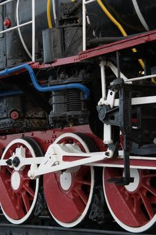 Free The Wheels Of An Old Steam Locomotive Stock Photo - 9592610