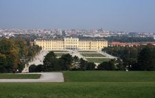 Free Schonbrunn Palace And View To The City Stock Image - 9592991