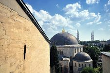 Hagia Sophia Cathedral In Istanbul Royalty Free Stock Photo