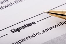 Free Pen Signing Form Stock Images - 9593204