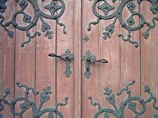 Decorated Door. Stock Image