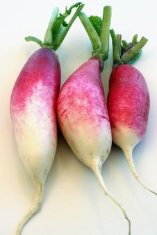 Free 3 Red & White Radishes Royalty Free Stock Images - 9593599