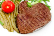 Free Fresh  Sirloin Strip Steak With Vegetables Stock Image - 9594141