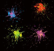 Free Colorful Splatters Stock Photo - 9594930