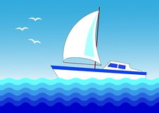Free White Sailboat Royalty Free Stock Photo - 9595035