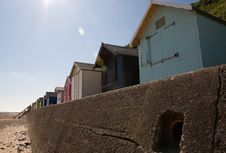 Free Beach Huts In The Sun Royalty Free Stock Photography - 9595157