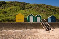 Free Cromer Beach Huts Stock Photography - 9595332