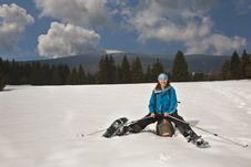 Free Active Lady On Winter Outdoor Stock Photos - 9595493
