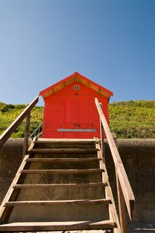 Free Red Beach Hut Royalty Free Stock Photo - 9595535