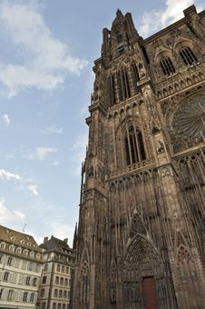 Cathedral In Strasbourg Royalty Free Stock Image