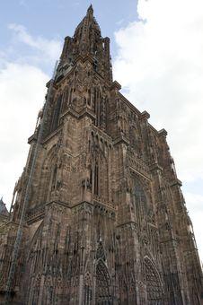 Cathedral In Strasbourg Stock Photo
